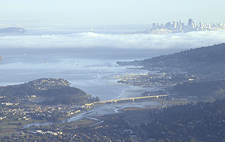 From Tamalpais overlooking Mill Valley.